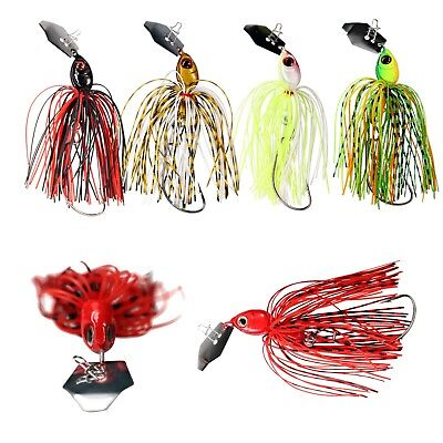 Bass Jigs Current River Tackle Lot of 3 brown with brush guard 3//8 oz.