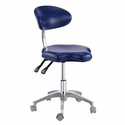 Dental Dentist's Mobile Chair Doctor's Medical Stool with Backrest PU Leather