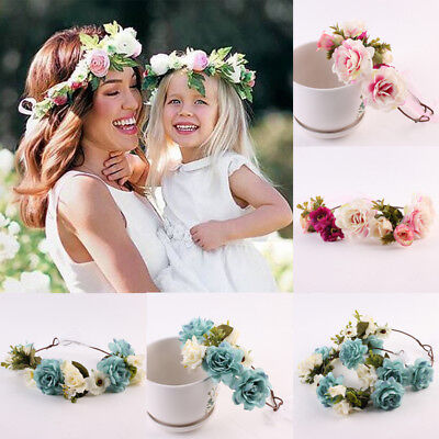 Women Flower Girl Babys Breath Wedding Floral Hair Headband Crown Garland