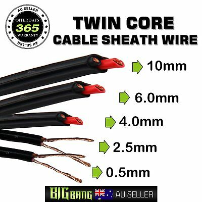 Twin Core Cable Sheath Wire 0.5mm 2.5mm 4mm 6mm 10mm Dual Battery Cables 10Meter