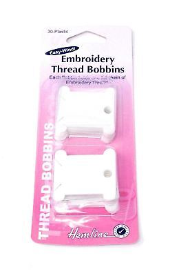 Plastic Embroidery Thread Bobbins 30 Pack