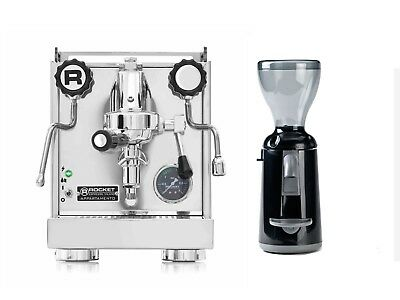 Rocket Appartamento Espresso Machine Coffee Maker & Grinta Grinder Black Set
