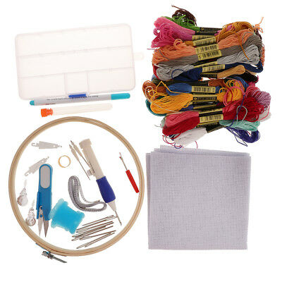 DIY Embroidery Pen Starter Kit Stitching Punch Needle Threads Set for Adults