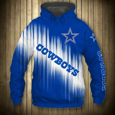 DALLAS COWBOYS Hoodie Zip Hooded Pullover S-5XL Football Team Fans NEW Designs