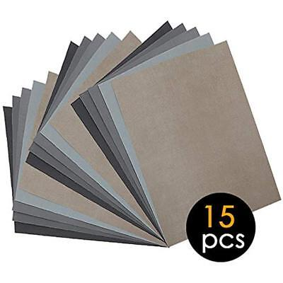 Paxcoo 9 Pcs 3000 5000 7000 High Grit Wet And Dry Sandpaper Assortment