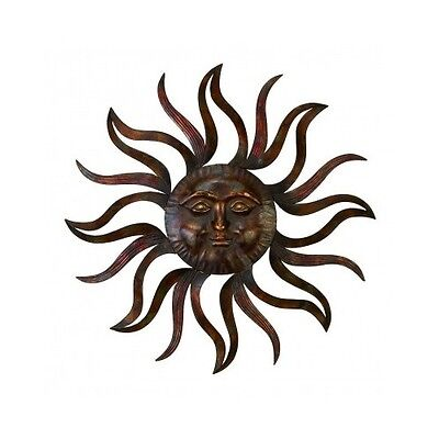 Smiling Sun Face Metal Wall Decor Art Home Kitchen Garden Indoor Outdoor Gift