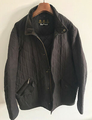 Barbour Chelsea Sportsquilt Jacket! Mens L/xl Brown Coat! 48-50 Chest! Quilted!