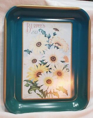 Vintage Burpee's Annual 1913 Steel Serving Tray,  Made in 1997