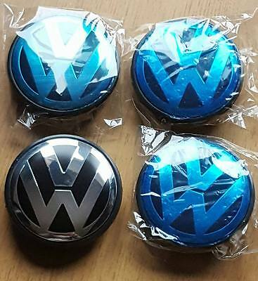 HOT Wholesale  Alloy Wheel Centre Caps X4 65mm Golf MK6 MK5 for VW