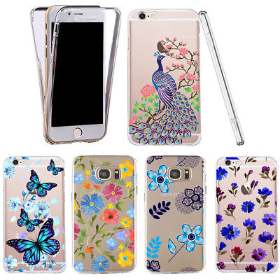 Case for Samsung Galaxy S8 Plus clear 360° cover gel beautiful silicone pattern