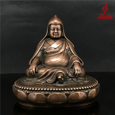 "5"" China Tibet old antique bronze copper gilt Buddhism Dolpopa Buddha statue"