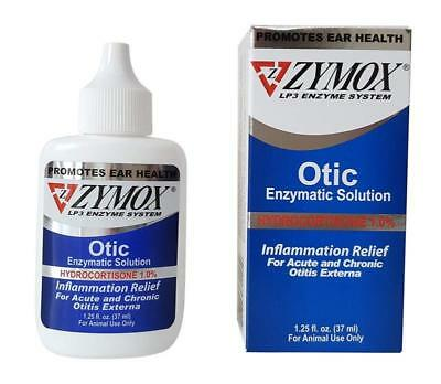 Pet King Brands Zymox Otic Pet Ear Hydrocortisone Treatment with
