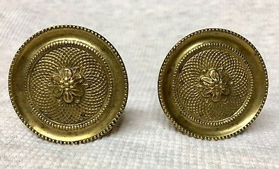 Antique late 18th early 19th Ct Cast Brass Curtain Tie Backs Regency Federal