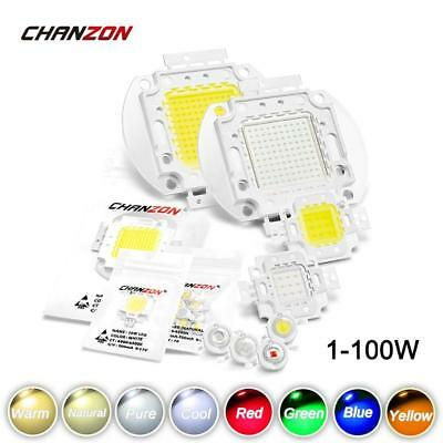 LED Chip 1W 3W 5W 10W 20W 30W 50W 100W Warm Cold White Red Green Blue Yellow SMD