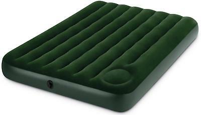 Inflatable Intex Downy Flocked Blow Up Air Bed Camping Festival With Pump Double