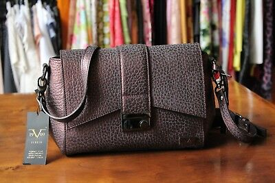 fd15916d89e5 VERSACE 19.69 Women s 100% Leather Burgundy Shoulder Bag New w Tags Made  Italy