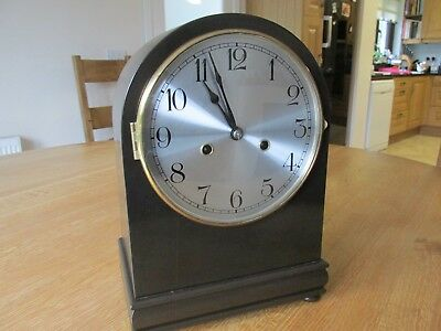 Vintage HAC Mahogany Chiming Mantel Clock