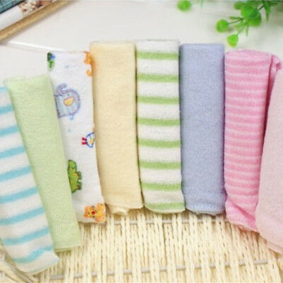 8pcs/Pack Baby Face Washers Hand Towel Cotton Feeding Wipe WashCloth