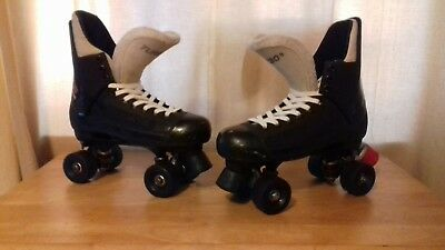 """Bauer """"Turbo"""" quad rollerskate conversions in a uk size 7."""
