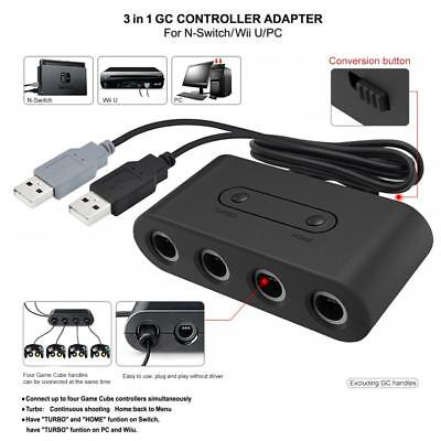 4 Port GC to Wii U Switch Gamecube NGC Controller Adapter Converter for Nintendo