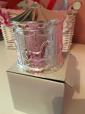 Christening gift silver plated unisex money box