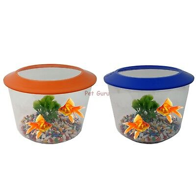 Goldfish Starter Set Aquarium Gold Fish Tank Bowl Gravel Plant Kit