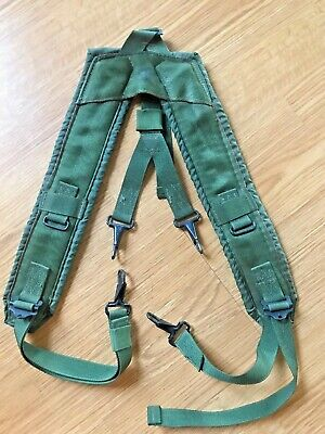 US Military Alice Y SUSPENDERS LBE Load Bearing Shoulder Web Harness OD VGC