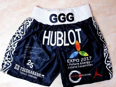 Very Rare Signed Gennady GGG Golovkin Shorts Vs Daniel Jacobs