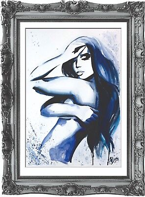 original painting art abstract woman 43BA watercolor peinture femme nue