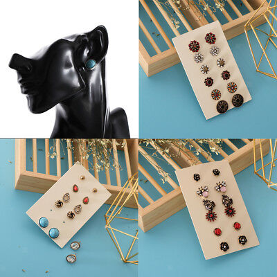 Blesiya 6 Pairs Vintage Boho Multiple Assorted Stud Earrings for Women Girl