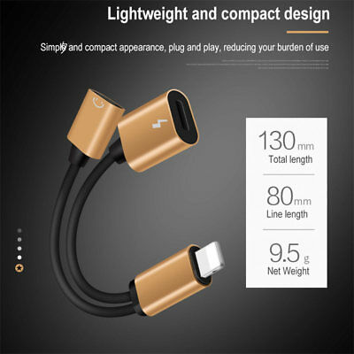 IOS 3.5mm Jack Audio Headphone Charger Cable Adapter For iPhone X 7 8Plus XS Max