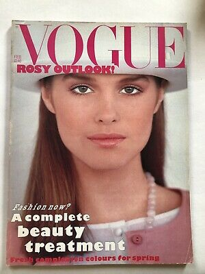 VOGUE MAGAZINE # 1983 February UK issue Jacki Adams cover by