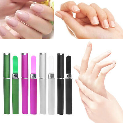 1 Pc Durable Glass Nail Art File Manicure Device Tool With Case Newest