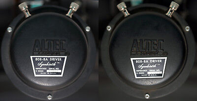 ALTEC LANSING 808-8A Drivers and 511A Horns PAIR WORKING ORDER