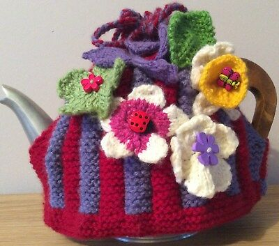 Hand Crafted Knitted Tea Cosy Medium New