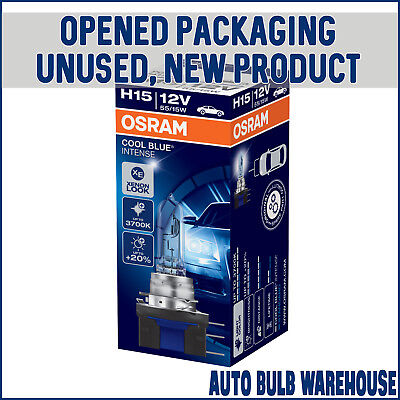OSRAM Cool Blue Intense H15 Car Bulbs Single (Opened Packaging, New Condition)
