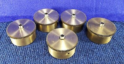 Lot of 5 Vintage Clock Mainsprings & Brass Drums #55 FREE Shipping