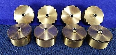 Lot of 8 Vintage Clock Mainsprings & Brass Drums #41 FREE Shipping