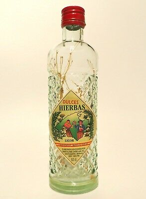 Glass Bottle Anissete Empty With Complete Label Vintage