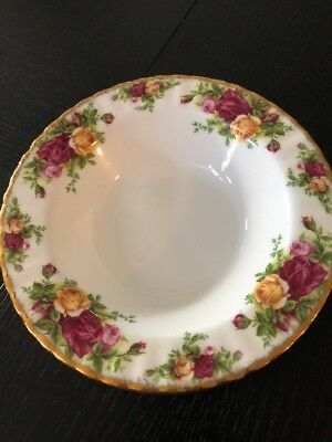 "Royal Albert Old Country Roses Bowl 8"" Wide Soup Cereal Bone China"