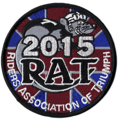 2015 Riders Association of Triumph Motorcycles RAT Patch Badge