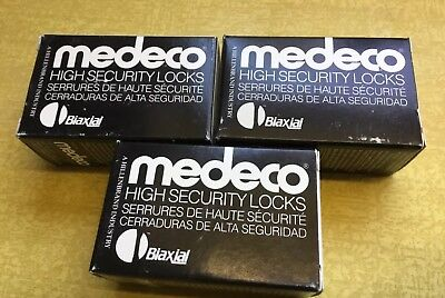 3 New Medeco Security Padlock Cylinder Lock, Biaxial, High Security. 2 Keys