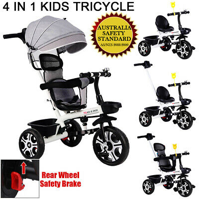4 in1 Baby Walker Kids Trike Tricycle Bike Children Bicycle 3 Wheels Stroller