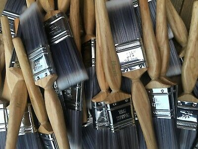 "5 x 1 1/2"" -  38mm HARRIS PLATINUM PAINT BRUSHES GLOSS STAIN VARNISH trade cheap"