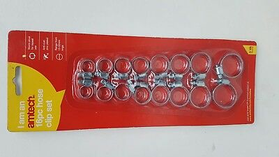 Assorted jubilee clips 16 Piece Hose Clip set