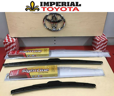 2008-2018 Toyota Highlander Genuine Oem Oe Style Sightline Wiper Blade Kit