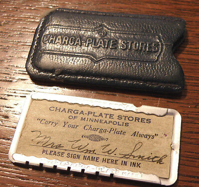 Very old  Charge Plate Metal Credit Card CHARGA-PLATE Stores of Minneapolis. Mn.
