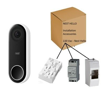 Nest Hello Complete Installation Parts Kit w/ Transformer & Chime. 220 - 16 VAC