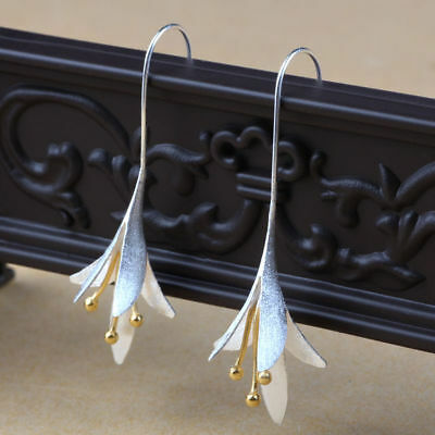 Latest New Style 925 Silver Hook Dangle Drop Earrings Jewelry Lily  Pendientes