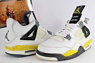 ceef3c5607d2ad Nike Air Jordan Retro 4 LS Rare Air Tour Yellow White Black Size 10 314254-